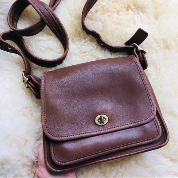 Coach Handbags - Vintage Coach Cognac Crossbody Bag Coach Rambler